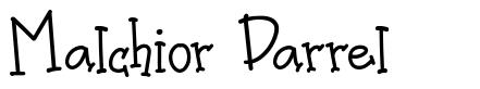 Malchior Darrel font