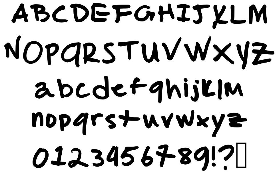 Malcolm's handwriting font