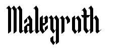 Malegroth 字形