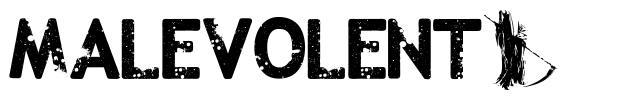Malevolentz font