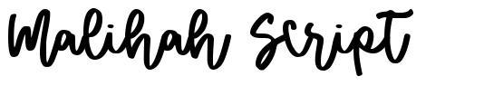 Malihah Script font