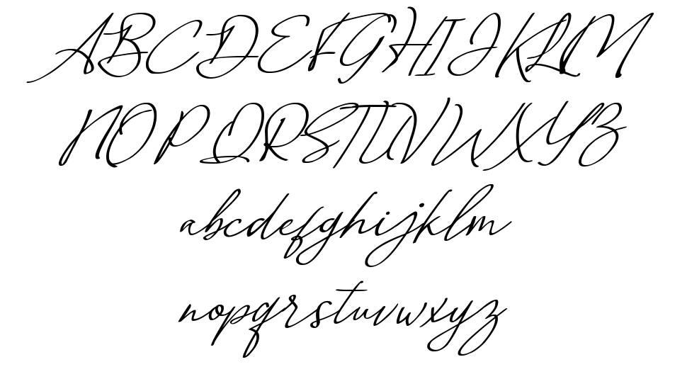 Malvinas Signature fonte