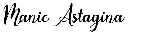 Manic Astagina font