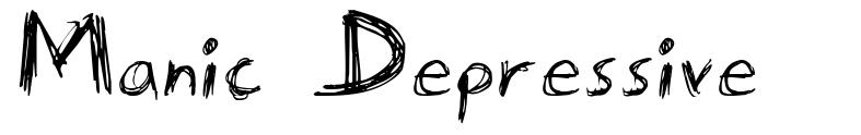 Manic Depressive font