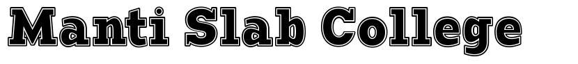 Manti Slab College font