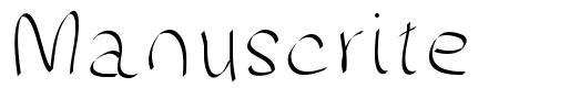 Manuscrite font