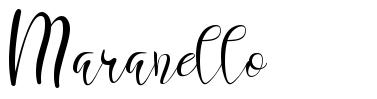 Maranello písmo