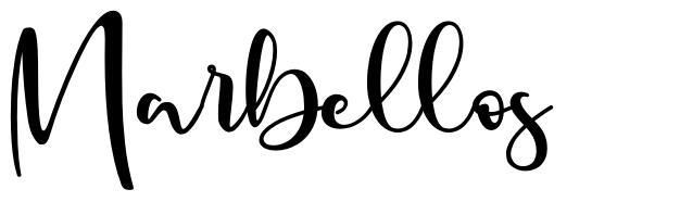 Marbellos шрифт