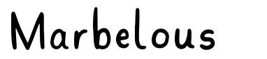 Marbelous font