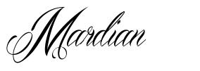 Mardian 字形