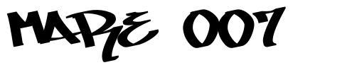 Mare 007 字形