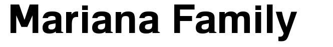 Mariana Family font