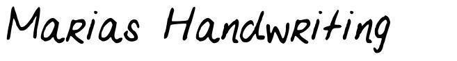 Marias Handwriting