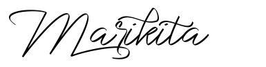 Marikita フォント