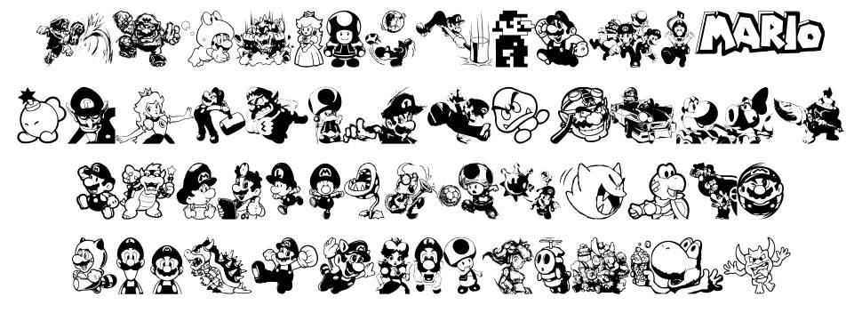Mario and Luigi schriftart