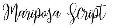 Mariposa Script