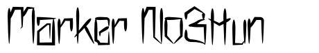 Marker No3Hun font