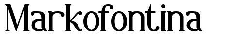 Markofontina font
