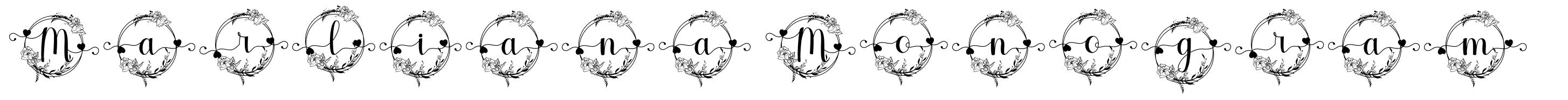 Marliana Monogram font
