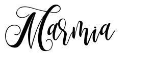 Marmia шрифт