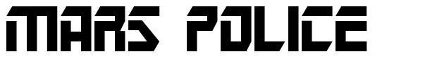 Mars Police font