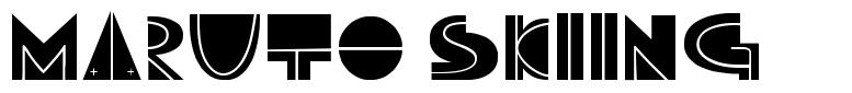 Maruto Skiing font