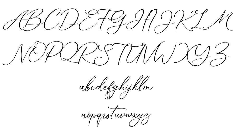 Marvelous Script font