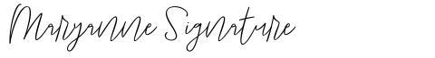 Maryanne Signature