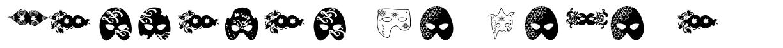 Mascaras de Veneza font