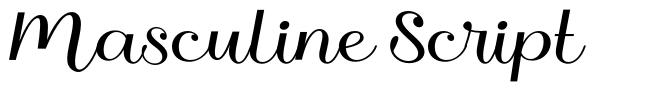 Masculine Script font