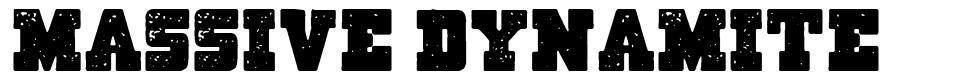 Massive Dynamite font