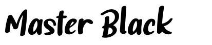 Master Black font