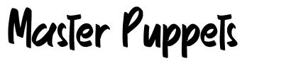 Master Puppets font