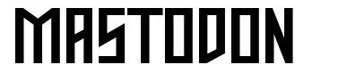 Mastodon font