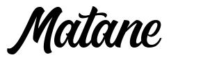 Matane font