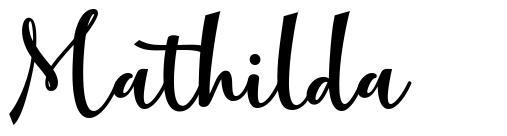 Mathilda font