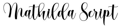 Mathilda Script font