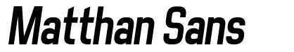 Matthan Sans