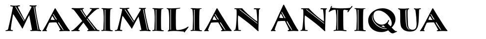 Maximilian Antiqua шрифт