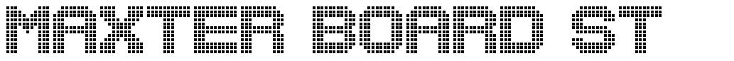 Maxter Board St font