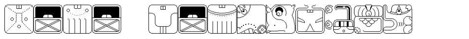 Maya Calendric font