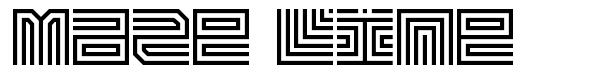 Maze Line шрифт