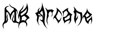 MB Arcane font