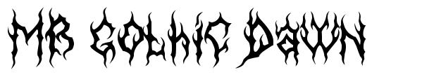 MB Gothic Dawn font