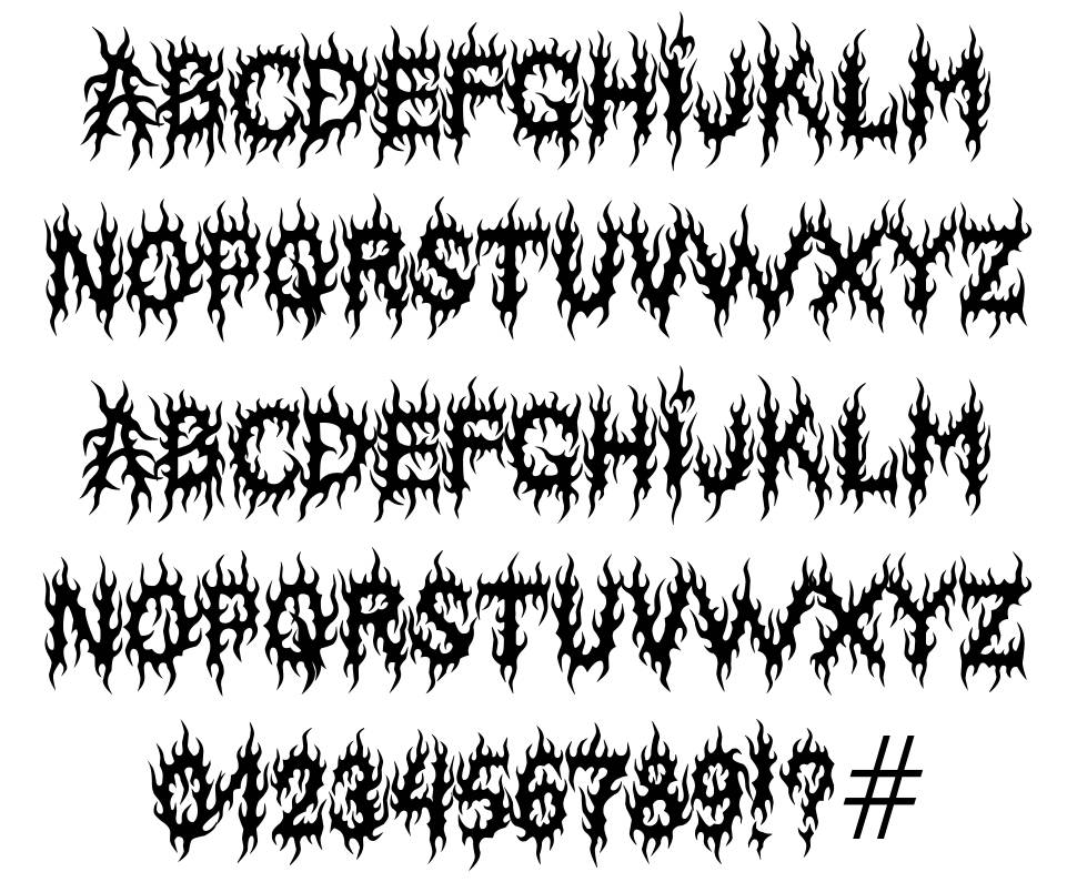 MB Lords Of Evil  font