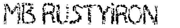MB RustyIron font