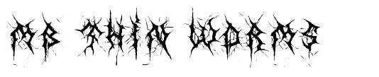 MB Thin Worms font