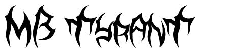 MB TyranT font
