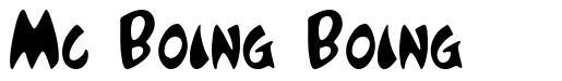 Mc Boing Boing písmo