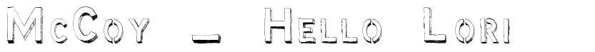 McCoy - Hello Lori font